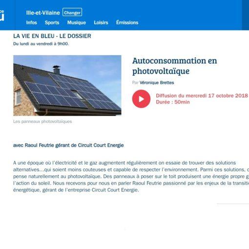 Autoconsommation photovoltaique - Circuit Court Energie